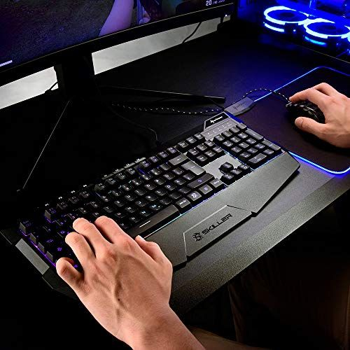 photo Wallpaper of Sharkoon-Sharkoon Skiller SGK4 Gaming Keyboard RGB, N Key Rollover, (Deutsches-Skiller SGK4 Gaming Keyboard Schwarz