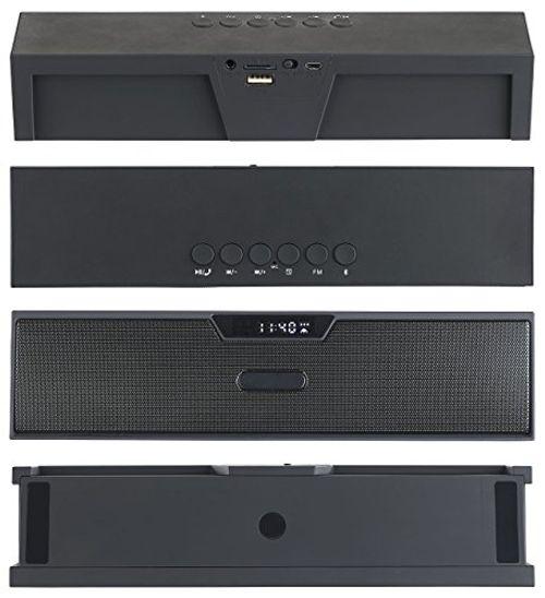 photo Wallpaper of auvisio-Auvisio Audio Lautsprecher: Stereo Lautsprecher, Bluetooth, Freisprecher, MP3, Radio, Wecker,-