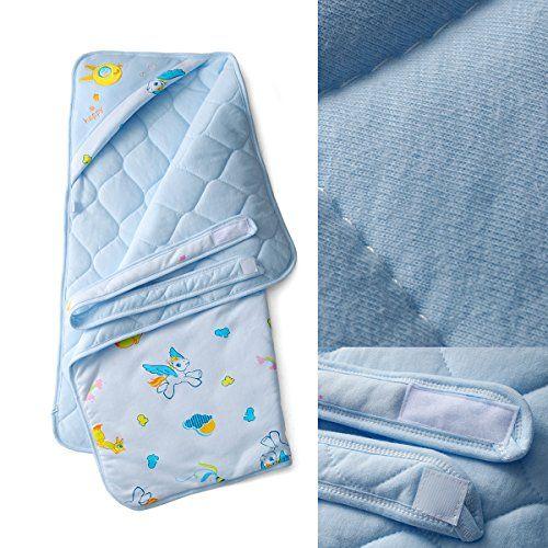 photo Wallpaper of Herenear-Lujosa Toalla De Baño Para Bebé Con Capucha / Toalla Delantal Bebé-Azul