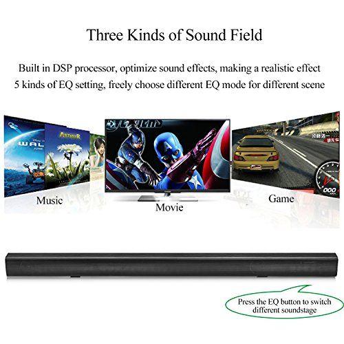 photo Wallpaper of Beneray-Soundbar, Beneray Heimkino Bluetooth 4.2 Lautsprecher, 2.1 Kanal, 40W Mit 4-Schwarz