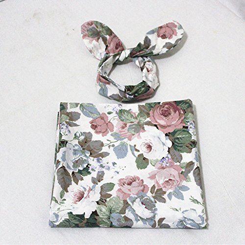 photo Wallpaper of Sharplace-Sharplace Baby Infant Floral Bedruckte Swaddle Wrap Decke Schlafsack Stirnband Set  -Stil 5