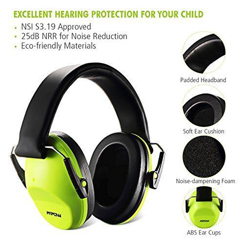 photo Wallpaper of Mpow-Mpow Gehörschutz Für Kinder, Kinder Gehörschutz, Lärmschutz Kopfhörer, Kopfhörer Kinder Für Konzert-Grün
