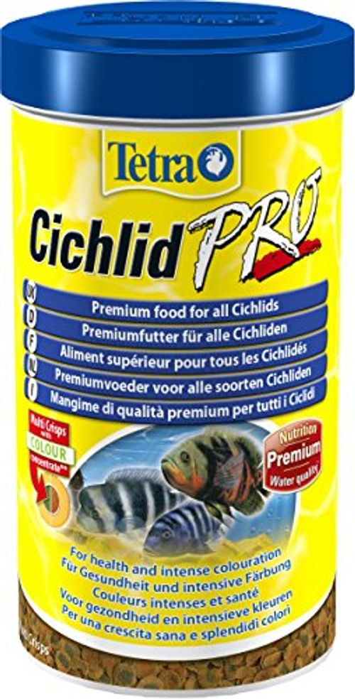 photo Wallpaper of Tetra-Tetra Cichlid Pro Premiumfutter (für Cichliden Mit Natürlichen Farbverstärkern, Minimale Wasserbelastung, Geeignet-