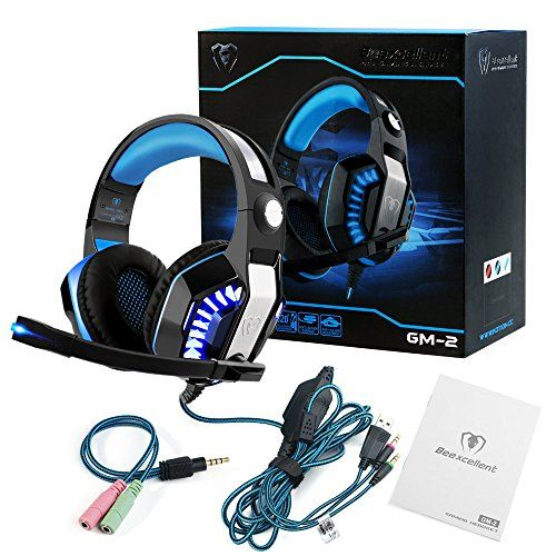 photo Wallpaper of ARINO-ARINO GM 2 Gaming Headset Over Ear Kopfhörer Mit LED Licht-Blau