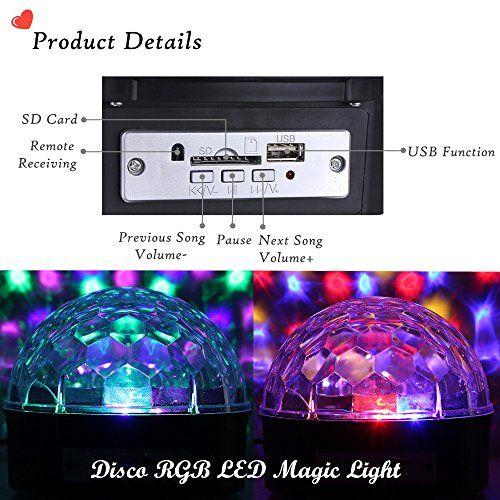 photo Wallpaper of JELEGAN-Disco Licht , JELEGAN Bühne Licht LED Lichteffekte MP3 Musik Player RGB-