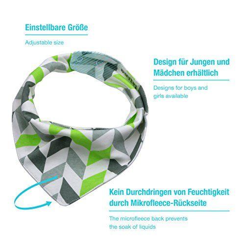 photo Wallpaper of talinu-TALINU 5er Baby Dreieckstuch Mit Druckknöpfen Aus 100% Baumwolle I Latz, Lätzchen, Babylätzchen, Spucktuch,-