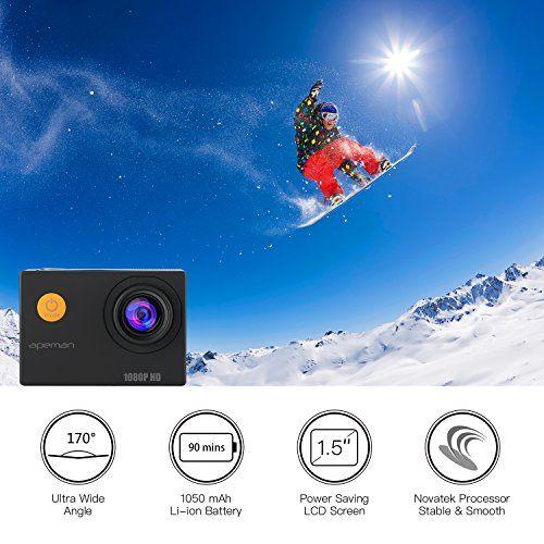 photo Wallpaper of apeman-APEMAN Action Cam 1080P Full HD Unterwasser Aktion Kamera Wasserdicht Helmkamera 170 °-1080P