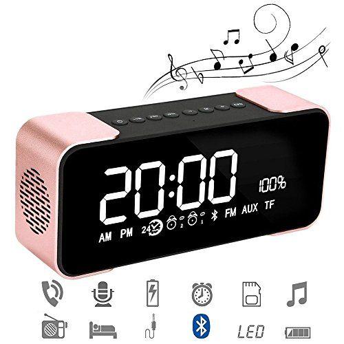 photo Wallpaper of Daxstar-Bluetooth Lautsprecher, Portable Kabelloser Lautsprecher 10W Treiber Mit Eingebauten Mikrofon, TF Karte-Rosa