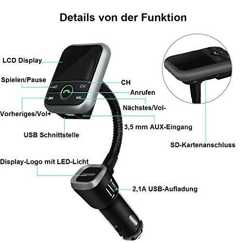 photo Wallpaper of VersionTech-FM Transmitter Bluetooth VersionTech Radio Adapter Wireless Car Kit Mit USB Ladeanschluss, 3,5mm-