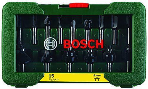 photo Wallpaper of Bosch-Bosch Fräser Set 15tlg. (Holz, Für Oberfräsen Mit 8 Mm-