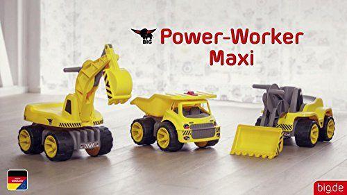 photo Wallpaper of BIG Spielwarenfabrik-BIG Spielwarenfabrik BIG 800055811   Power Worker Maxi Digger, Gelb-