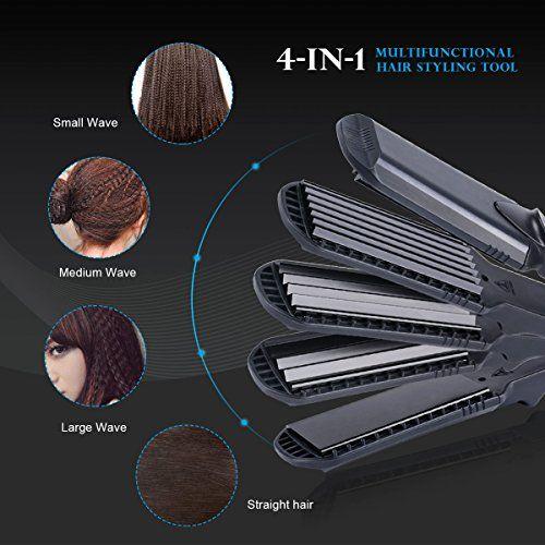 photo Wallpaper of Ckeyin-CkeyiN® 4 En 1 Multifunción Intercambiables Plancha De Pelo Para El Peinado Alisado /rizos-Negro