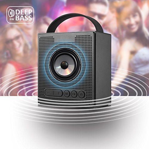 photo Wallpaper of Dprofy-Radiowecker Bluetooth Lautsprecher Kabellose Digital   Dimmbare LED Uhr Mit 4 Wecker,Tragbarer Lautsprecher-black