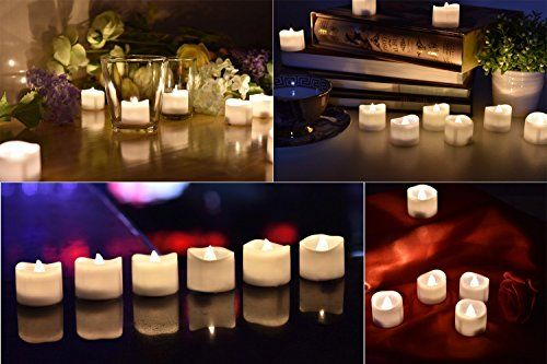 photo Wallpaper of eLander-LED Kerzen, ELander LED Tee Lichter Flammenlose Kerzen Mit Timer, Automatikmodus: 6 Stunden-mit timer