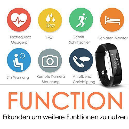 photo Wallpaper of ANEKEN-Fitness Tracker, Aneken Fitness Armband Mit Herzfrequenz, Schrittzähler Aktivitätstracker Pulsmesser Mit 14 Trainingsmodi-Dunkel schwarz
