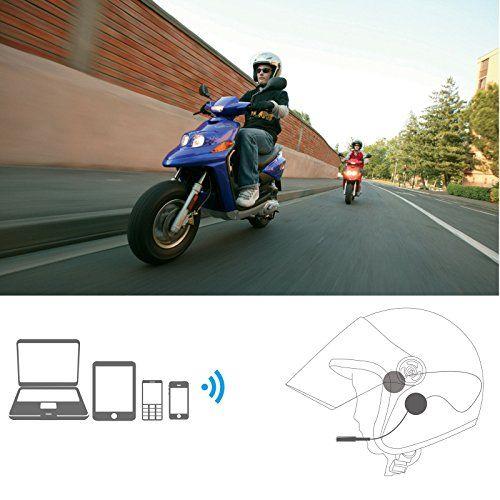 photo Wallpaper of TechCode-Motorrad Helm Wireless Bluetooth Kopfhörer, TechCode MH01 Sprech Motorrad Helm Wireless Bluetooth 4.0 Headset-Transparent