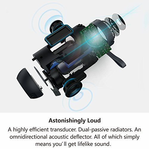 photo Wallpaper of COMISO-Bluetooth Lautsprecher, COMISO IPX5 Wasserdicht Lautsprecher Box Mit Dual Treiber-Schwarz