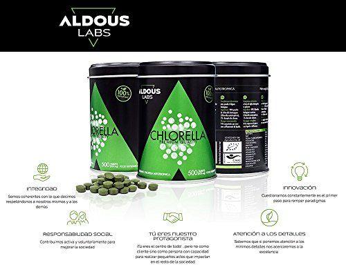 photo Wallpaper of Aldous Labs-Chlorella Ecológica Y Orgánica De Calidad Premium | 500 Comprimidos De-