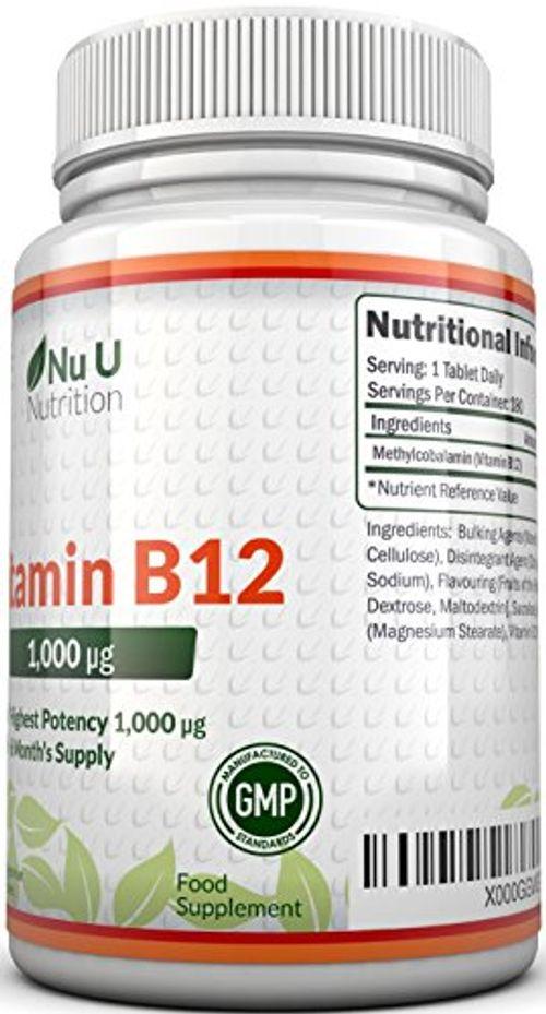 photo Wallpaper of Nu U Nutrition-Vitamina B12   Meticobalamina   1000 Mcg -