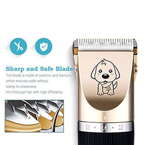 photo Wallpaper of AIYOOE-AIYOOE Haustier Grooming Clipper Kits, Wiederaufladbare Drahtlose Haarschneidemaschine, Elektrische Leise-