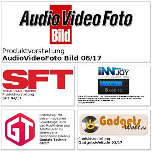 photo Wallpaper of auvisio-Auvisio Schwebender Lautsprecher: Freischwebender Lautsprecher Mit Freisprecher & 4.1 Bluetooth, 10-