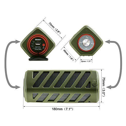 photo Wallpaper of Hapyia-Hapyia Drahtloser Tragbarer Bluetooth Lautsprecher Wasserdichtes, 1 Paar Lautsprecher Für 3D Stereo Surround-Grün