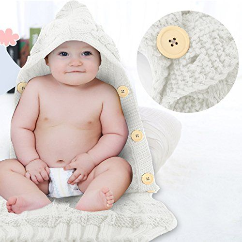 photo Wallpaper of SOONHUA-Neugeborenes Babydecke Wrap Swaddle Decke, SOONHUA Baby Kinder Kleinkind Wolle-White