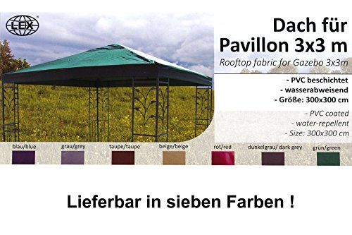 photo Wallpaper of Unbekannt-Pavillon Ersatz Dach LUKAS 3x3 M Dunkel Grau Stoffdach-anthrazit