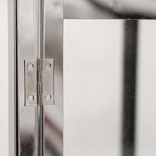 photo Wallpaper of Dekovita-Dekovita Gartenlaterne 2er Set: 30cm/41cm Edelstahl Laternen Mit Rundem Henkel Windlicht Hitzebeständiges Temperglas-2er Set Laterne