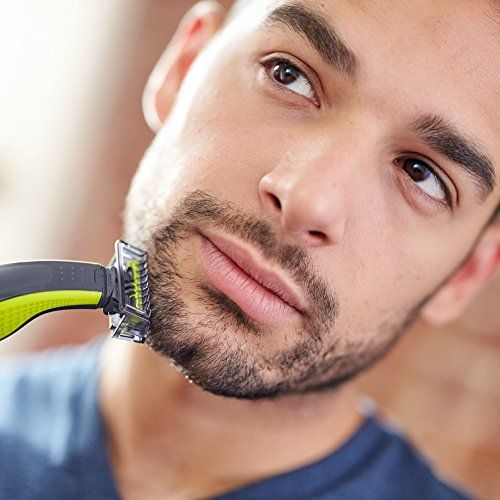 photo Wallpaper of Philips-Philips OneBlade QP2520/30   Recortador De Barba, Recorta, Perfila Y Afeita, Recargable-Verde, Gris