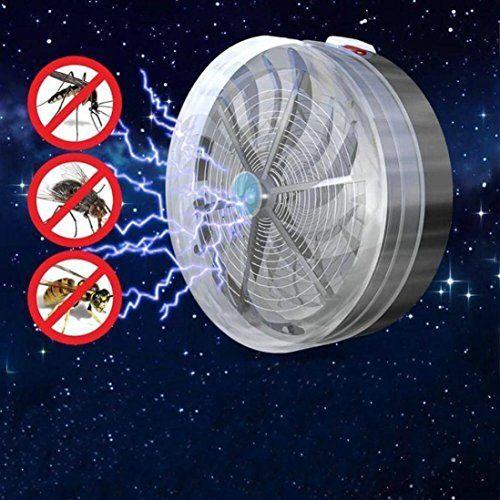 photo Wallpaper of Masrin-Masrin Solarbetrieben Buzz UV Lampe Fly Kill Zapper Moskitos Bug Insekten-grau