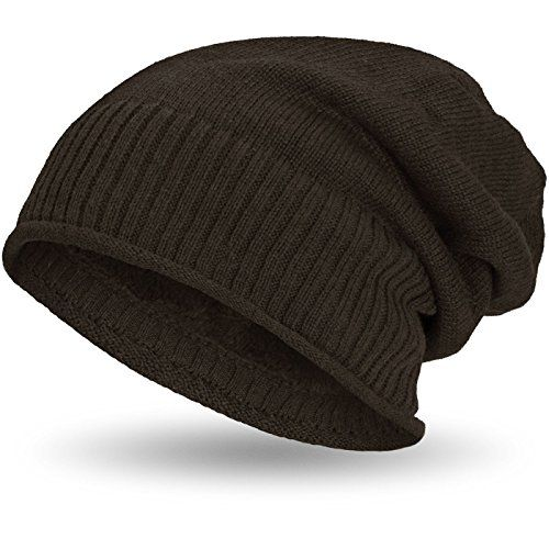 photo Wallpaper of Compagno-Compagno Gefütterte Beanie Wintermütze Mit Weichem Und Warmem Teddy Fleece-Braun