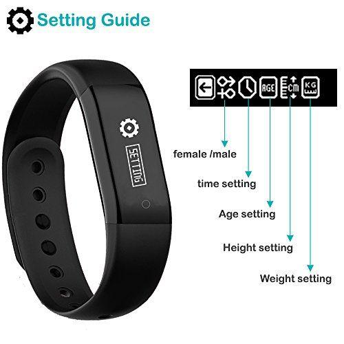 photo Wallpaper of Willful-Fitness Tracker, Willful Schrittzähler Uhr Ohne Bluetooth Fitness Armbänder Aktivitätstracker-Schwarz