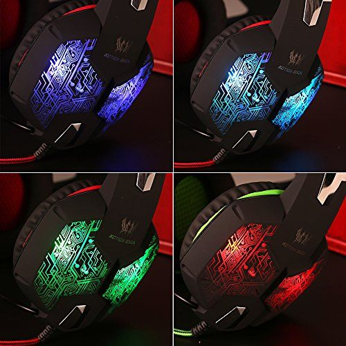 photo Wallpaper of marsboy-PC&PS4 Gaming Headset, Marsboy Gaming Kopfhörer Mit Mikrofon LED Effekt Für PS4 PC Film-Rot