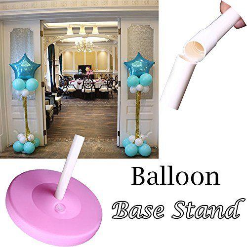 photo Wallpaper of ZCGYL-ZCGYL 2 Set Sticks Pole Balloon Column Base Stand Plastic Upright-