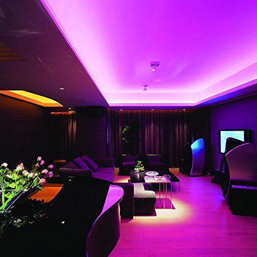 photo Wallpaper of VINGO-VINGO® 2m LED Streifen RGB LED Strip 120LEDs Streifen Wohnzimmer Flur Bunt Streifen Band-2m