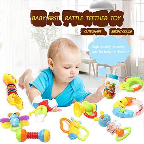 photo Wallpaper of YeahiBaby-YeahiBaby Primer Sonajero Y Mordedor Juguete Con Mamadera Gigante 9pcs Bebé-