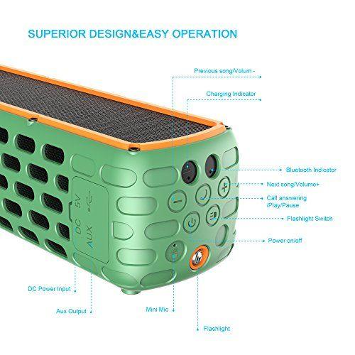 photo Wallpaper of ALAFAT-Bluetooth 4.0 Lautsprecher Solar Außen Lautsprecher Dual Treiber HD Stereo-Green