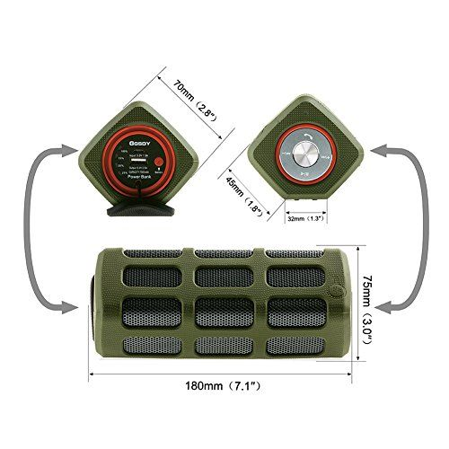 photo Wallpaper of Hapyia-Hapyia Tragbarer Drahtloser Bluetooth Lautsprecher, 1 Paar Lautsprecher Für 3D Stereo Surround Sound System-Grün