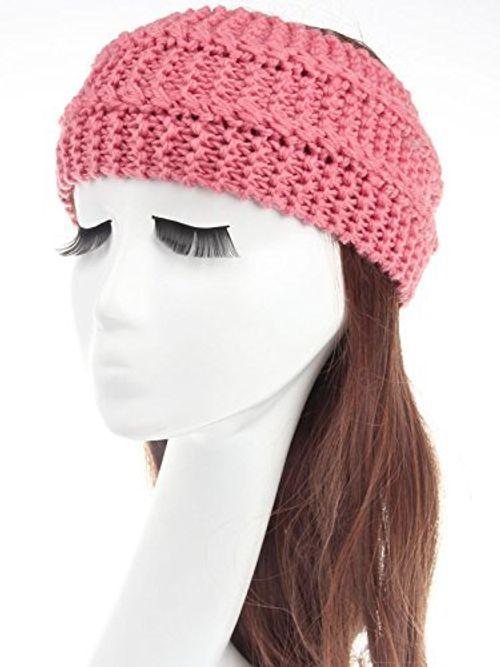 photo Wallpaper of Miya-Miya Elegant Strick Kopfband, Warmes Strick Stirnband Für Mädchen, Damen Haarband Geknotete Stirnband,-Hellpink