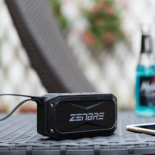 photo Wallpaper of ZENBRE-Bluetooth Lautsprecher, ZENBRE D5 Bluetooth 4.1 IPX7 Lautsprecher, 40 Stunden Spielzeit-Schwarz