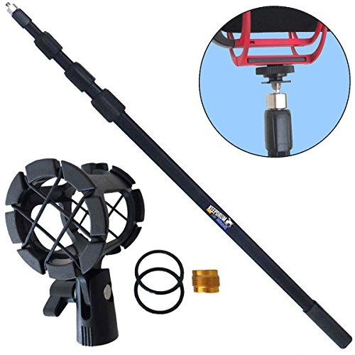 photo Wallpaper of Keepdrum-KEEPDRUM MPB03 Boompole 3m Tonangel Teleskopangel + PCMH1 Spinne Elastische Halterung-