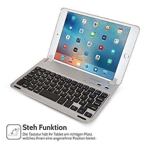 photo Wallpaper of Caseflex-Caseflex Ultra Dünn Bluetooth Tastatur Mit Magnetischer Halterung & Verstellbarem Haltstand Für IPad-Silber