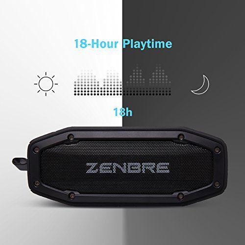 photo Wallpaper of ZENBRE-[Räumungsverkauf] Bluetooth Lautsprecher, ZENBRE D6 2X5 Bluetooth 4.1 Tragbarer Lautsprecher Mit 18h Spielzeit,-Schwarz