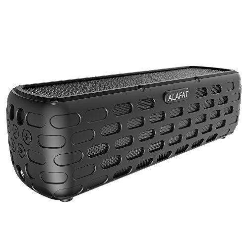photo Wallpaper of ALAFAT-Bluetooth Lautsprecher Solar Außen Lautsprecher Dual Treiber HD Stereo SoundBox Wirelss Tragbar Kabellos Musikbox-Black