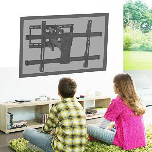 photo Wallpaper of Perlegear-TV Wandhalterung Schwenkbar Neigbar Max.VESA 600x400mm Für 37 70 Zoll (94 178cm)-Schwarz
