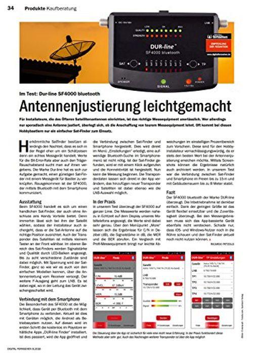 photo Wallpaper of DUR-line-NEUHEIT! Bluetooth Easy SatFinder   DUR Line SF 4000 BT-