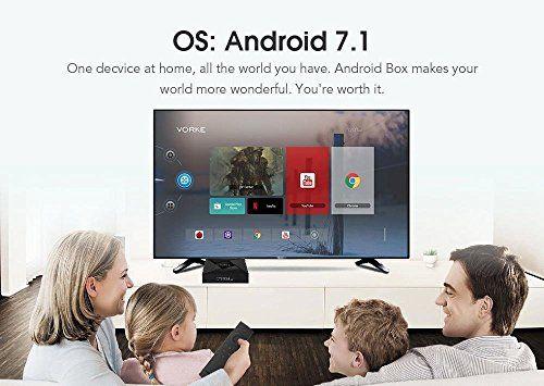 photo Wallpaper of VORKE-Android TV Box, VORKE Android 7.1.2 2 GB / 16 GB S905W Unterstützung 2.4G/5G-Schwarz