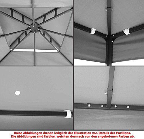 photo Wallpaper of habeig-WASSERDICHTER Pavillon TOSKANA 3x3m Metall Inkl. Dach Festzelt Wasserfest Partyzelt (Waldgrün)-Waldgrün