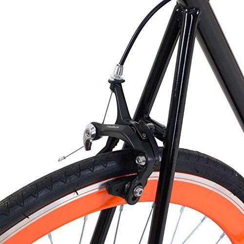 photo Wallpaper of Galano-700C 28 Zoll Fixie Singlespeed Bike Galano Blade 5 Farben Zur Auswahl, Rahmengrösse:59 Cm,-Schwarz / Orange